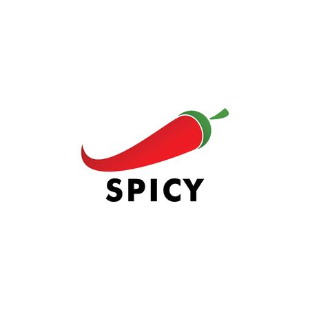 Chili or Spicy logo design simple minimalist style