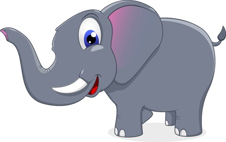 cute elephant standing Vector