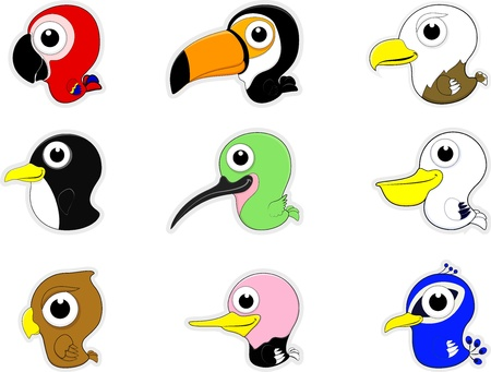 Cartoon Birds Icon Set Stock Vector - 17377464