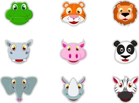 zebra heads: Cute Animal Head Icon