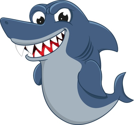 Vector Illustration Of Cool Shark Vector