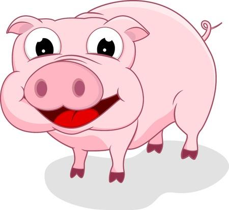 Happy Pig Stock Vector - 17438170