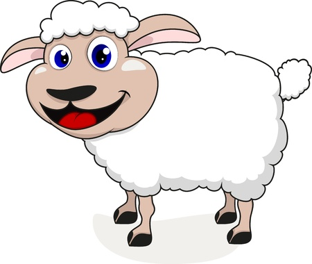 Happy Sheep Stock Vector - 17438172