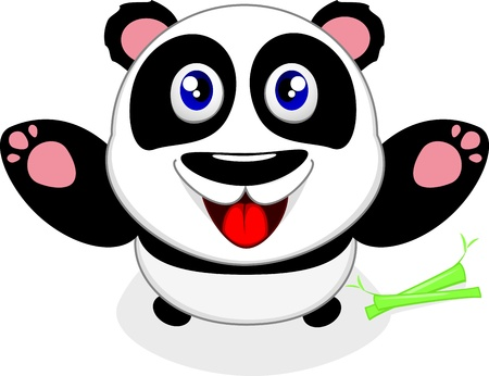 Happy Baby Panda Vector
