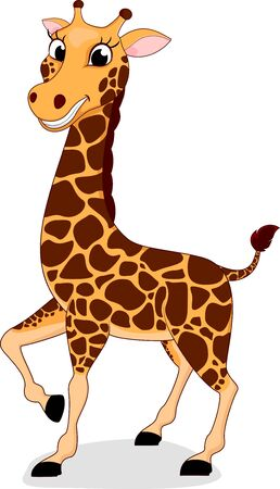 Happy Giraffe Standing Stock Vector - 17438256