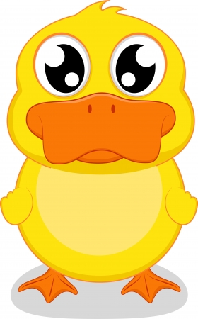 naranja caricatura: Ilustraci�n Feliz De Pato feliz