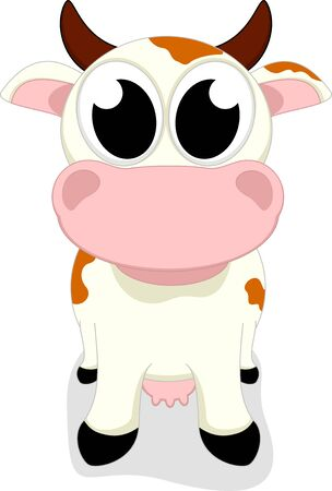 Cute Little Cow Standing Stock Vector - 17546058