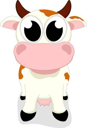 Cute Little Cow Standing Stock Vector - 17546058