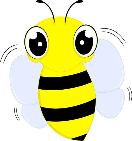 Cute Fly Bee  Stock Vector - 17546057
