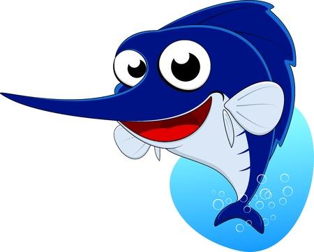 황새치: 검 생선, 말린 물고기의 벡터 일러스트 레이 션