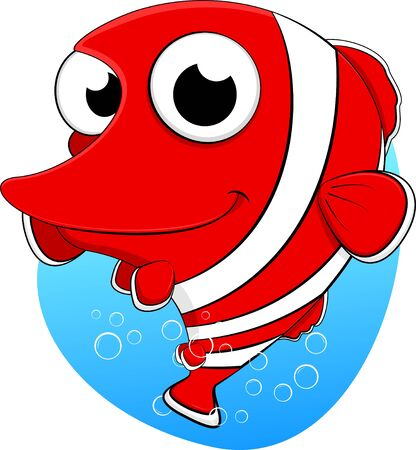 Vector Ilustración De Lindo peces payaso Ilustración de vector