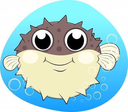 puffer: Puffer fish With Bubles