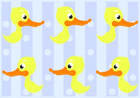 Ducks Seamless Pattern Background Vector