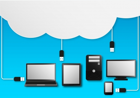 Vector Illustration Of Cloud Computing