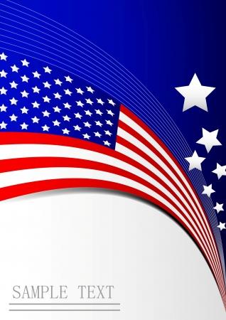 bandera americana: bandera fondo de la tarjeta de papel Vectores