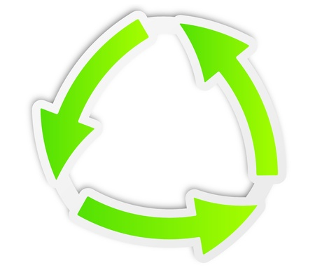 recycle green paper Vector