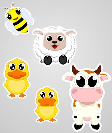 farm animal paper Vector