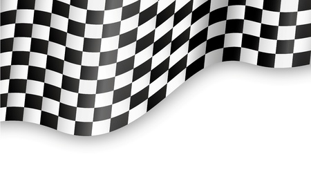 flag pole: checkered flag background