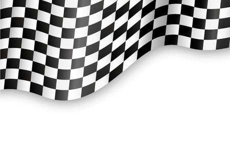formula car: checkered flag background