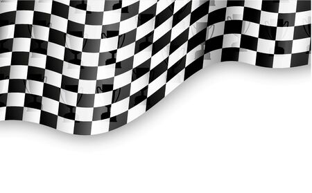 checkered flag background with trophy Vector
