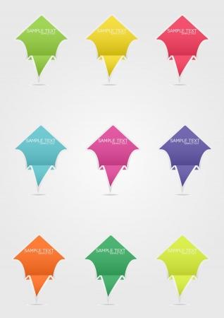 Arrow Paper Full Color Stock Vector - 18174064