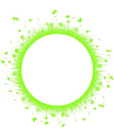 gaia: grass green on circle Illustration