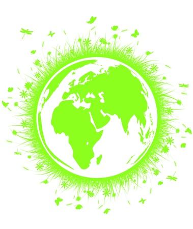 Green Globe Earth  Vector