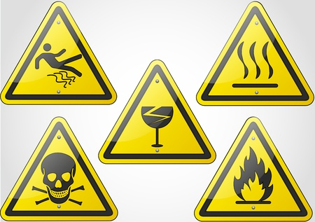 Warning Sign Set 2 Stock Vector - 18367017