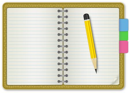 writing equipment: Note Book Skin Textured Illustration