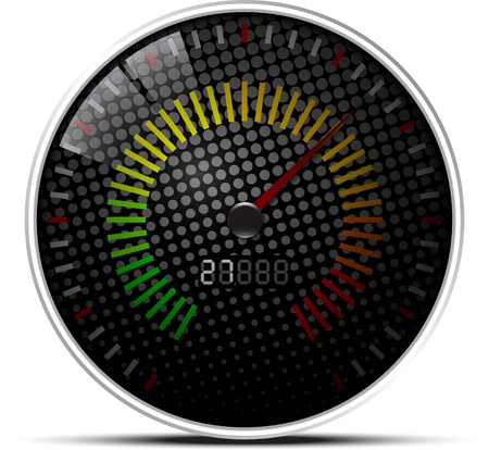 Black Speed Meter Background Vector