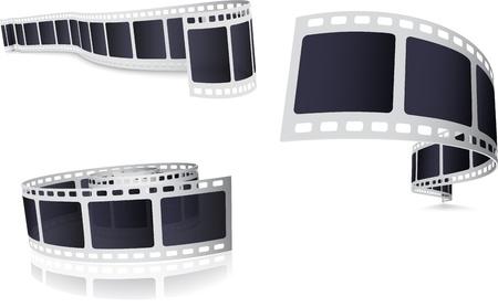 film industry: Camera Film Roll Set