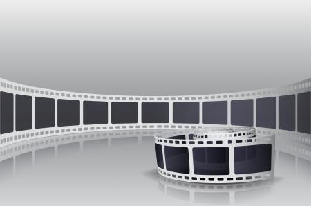 Kamera Film Roll Set Illustration