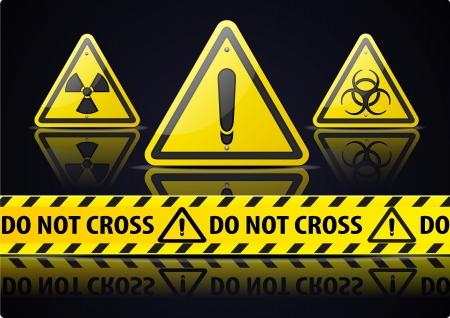 hazard stripes: Danger Sign Illustration