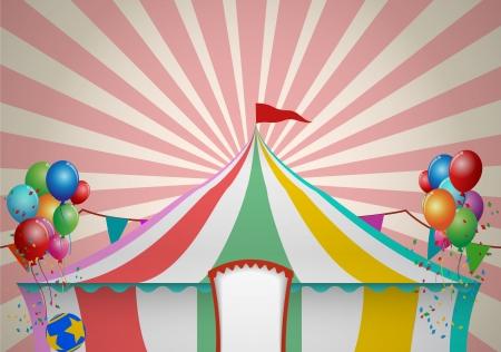 Circus Tent Celebra Illustration