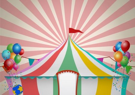 carnival background: Circus Tent Celebration