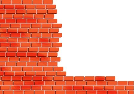 pared rota: Pared de ladrillo