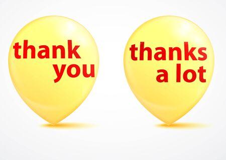 thanks a lot: Thank you - grateful yellow bubbles