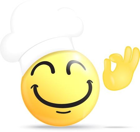 Chef Emoticon Stock Vector - 19497388