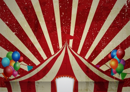 entertainment tent: Vintage circus  a circus vintage poster for your advertising