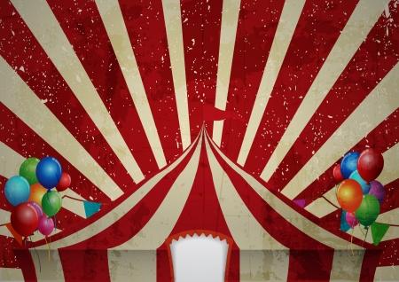Vintage cirkus en cirkus vintage affisch för din annonsering