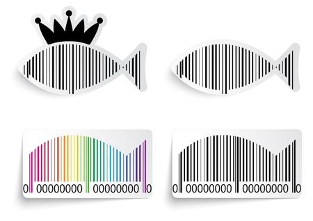 bar codes: Bar code fish label set