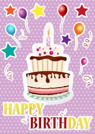 Set Of Birthday Celebration Vector