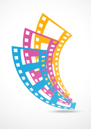 film strip abstract background