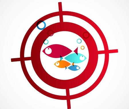 ziel icon: Fisch Zielikone Illustration