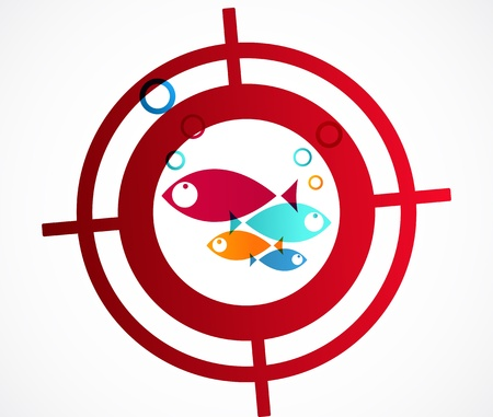 Fish target icon  Vectores