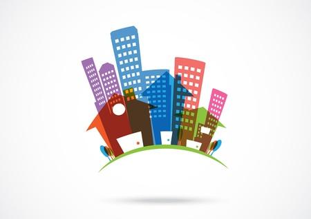 real estate Icon Abstract  Ilustração