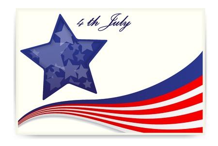 Illustration Av amerikanska flaggan, Visitkort