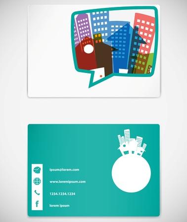 real world: card design for business Illustration