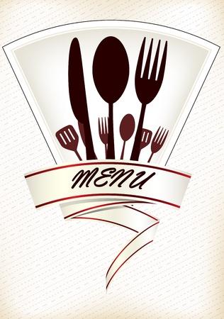 Restaurant Men?-Design Standard-Bild - 20135051