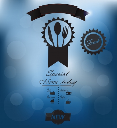 Menu poster on glass Stock Vector - 20142881